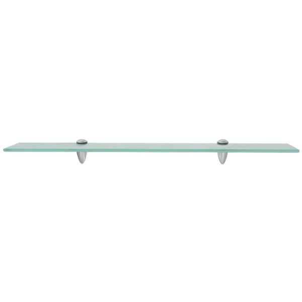 """vidaXL Floating Shelf Glass 27.6/""""x3.9/"""" Wall Hanging Mounted Displaying Shelf"""