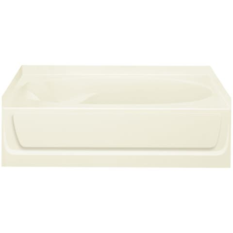 """Sterling 71101127 Ensemble 60"""" x 37-1/2"""" Vikrell Soaking Bathtub for Alcove Installations with Right Drain"""