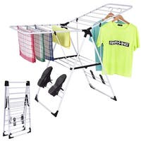 Costway Laundry Clothes Storage Drying Rack Portable Folding Dryer Hanger Heavy Duty