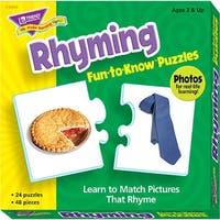 Trend Enterprises Rhyming Puzzle Set
