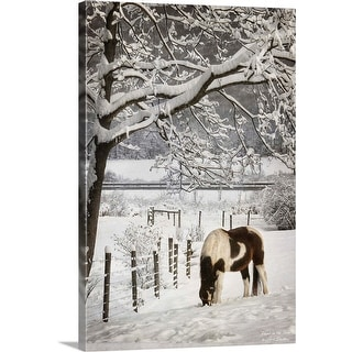 """""""Paint in the Snow"""" Canvas Wall Art"""