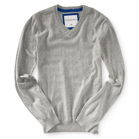 Aeropostale Mens Solid Pullover Sweater
