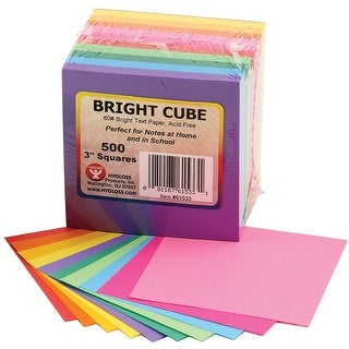 "Paper Cube 3""X3"" 500 Sheets/Pkg-Assorted Bright Colors"