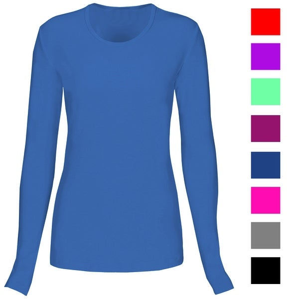 65b7ac6d907 T Flex Womens Comfort Long Sleeve T-Shirt Underscrub Tee Layering Shirt  Uniform