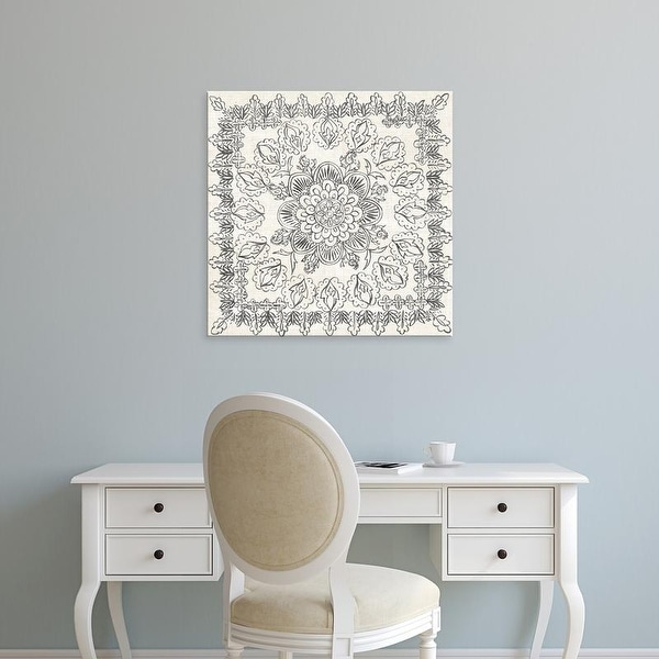 Easy Art Prints Chariklia Zarris's 'B&W Batik Rosette I' Premium Canvas Art