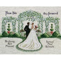 """From This Day Forward Counted Cross Stitch Kit-14""""X11"""" 14 Count"""