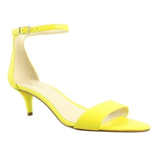 Nine West Womens Superskate Yellow Ankle Strap Sandals Size 8 (C,D,W)
