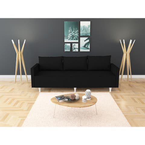Contemporary Metal and Foam 3-seat Sofa