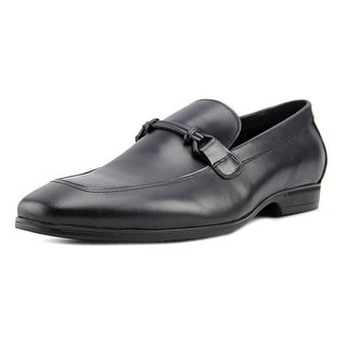 Kenneth Cole NY Spare Time Men  Round Toe Leather Black Loafer