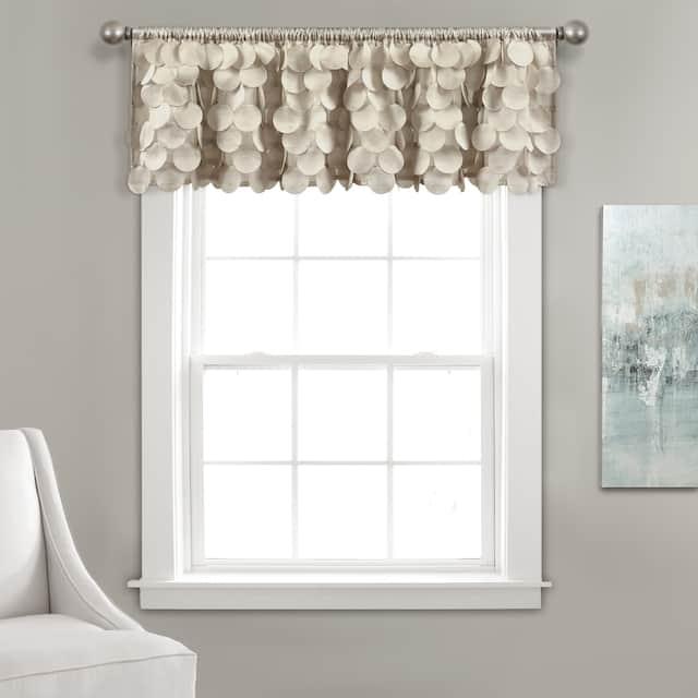 Lush Decor Gigi Window Curtain Valance - Wheat