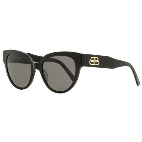 Balenciaga BB0050S 001 Womens Black/Gold 55 mm Sunglasses