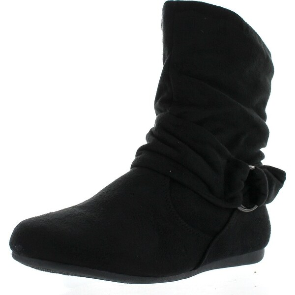 Forever Link Selena-58 Women's Fashion Calf Flat Heel Side Zipper Slouch Ankle Boots