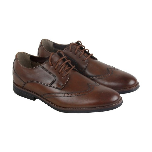 Bostonian Yorkton Wing Mens Brown Leather Casual Dress Lace Up Oxfords Shoes