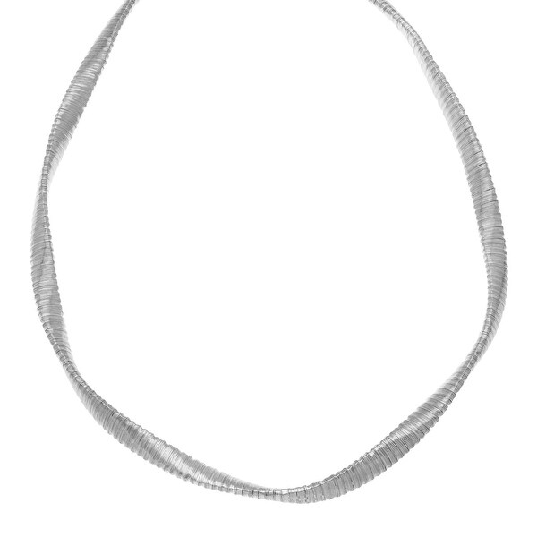 Twisted Necklace in Rhodium-Plated Sterling Silver