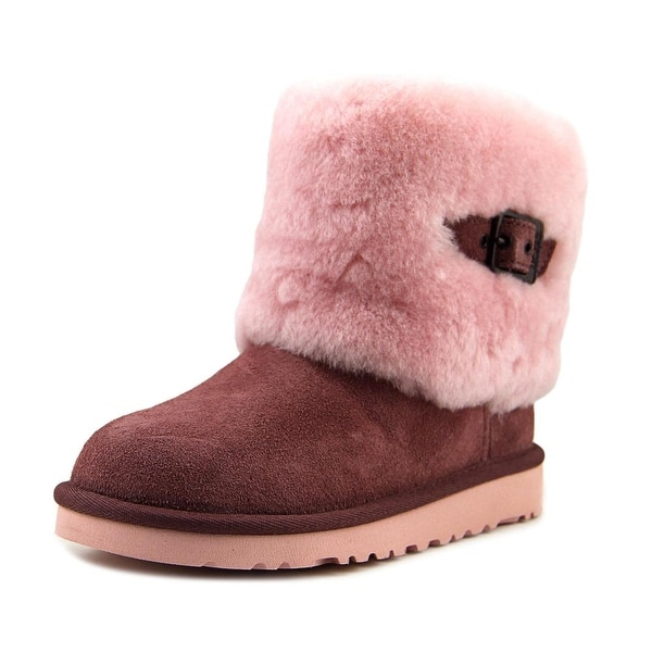 0feb941a6c1 Shop Ugg Australia Ellee Youth Round Toe Suede Ankle Boot - Free ...