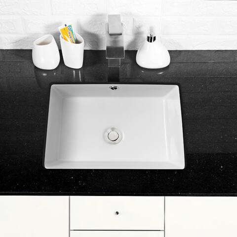 "17"" x 12"" Rectangle Undermount Vessel Sink"