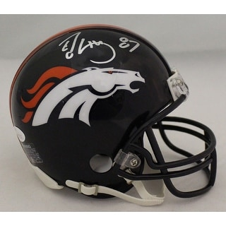 Ed McCaffrey Autographed Denver Broncos Current Mini Helmet JSA