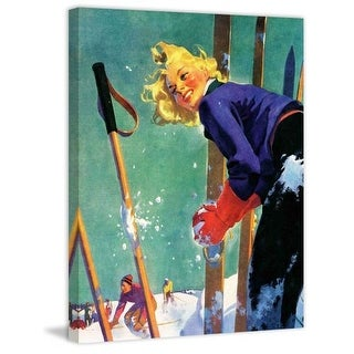 Marmont Hill Snow Fight Fine art canvas print from the Marmont Hill Art Collective
