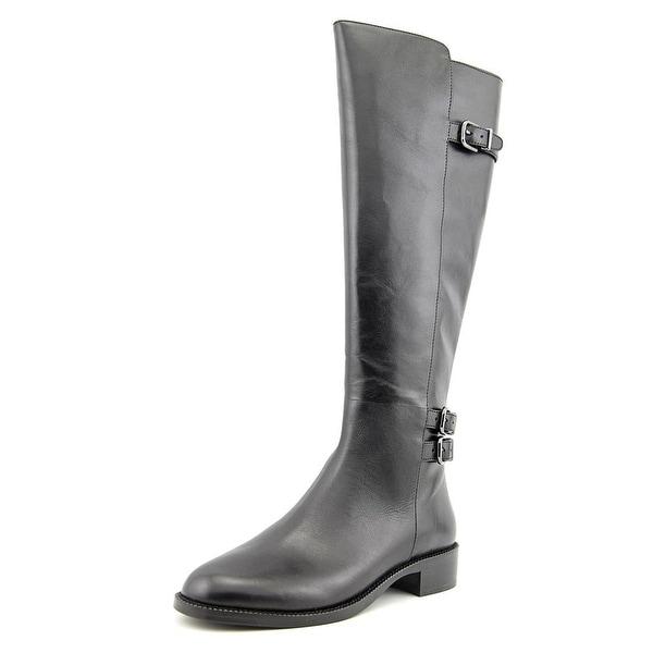 Via Spiga Beba Round Toe Leather Knee High Boot