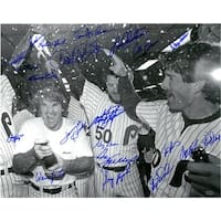 Philadelphia Phillies signed 16x20 Photo 1980 World Series Team BW 21 signatures 1983 Photo