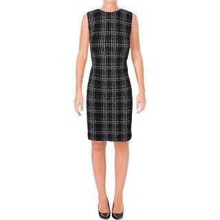 Calvin Klein Womens Petites Wear to Work Dress Sleeveless Plaid