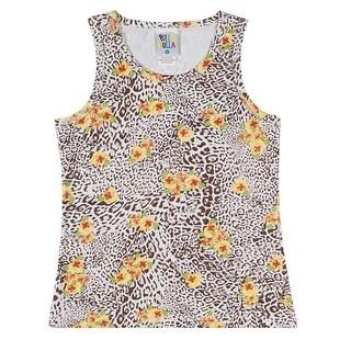 Girls Tank Top Cheetah Print Tee Kids Clothing Pulla Bulla Sizes 2-10 Years