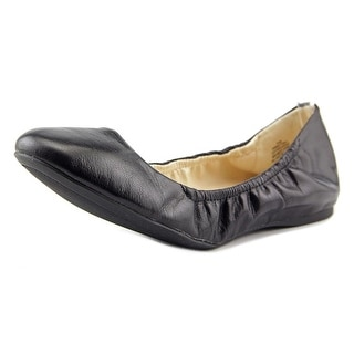 Nine West Misty Ray Women Round Toe Leather Black Ballet Flats