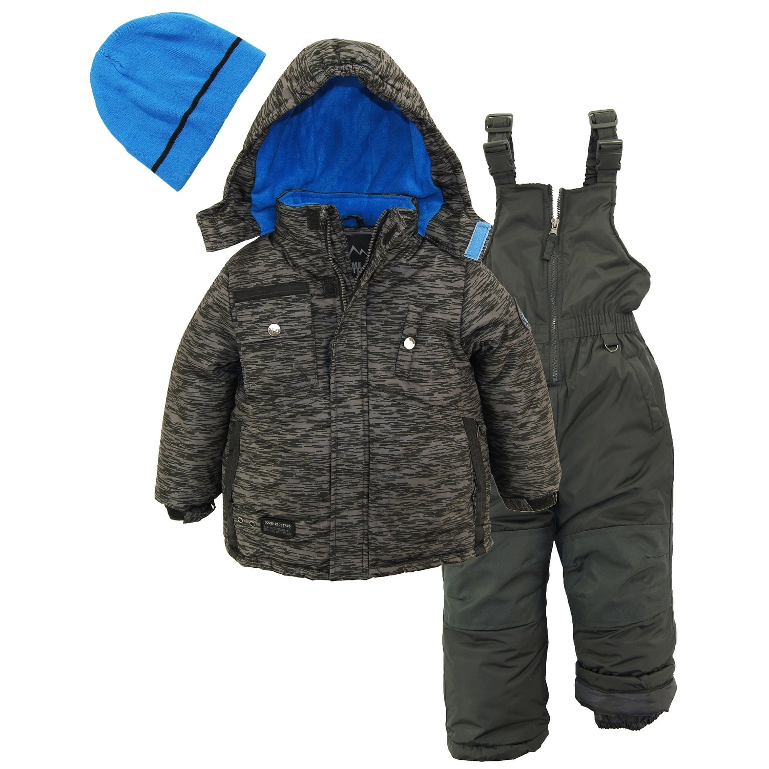 iXtreme Toddler Boys/' Colorblock Winter Snow Vest Puffer BLACK
