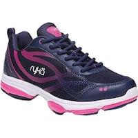 Ryka Women's Devotion XT Sneaker Blue/Pink/White Fabric/PU