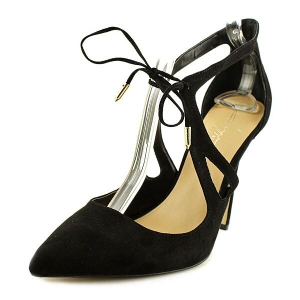 Daya by Zendaya Aaron Women Open Toe Suede Black Sandals