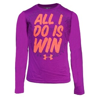 Under Armour Girls' Graphic 1996 All I Do Is Win L/S T-Shirt - Purple