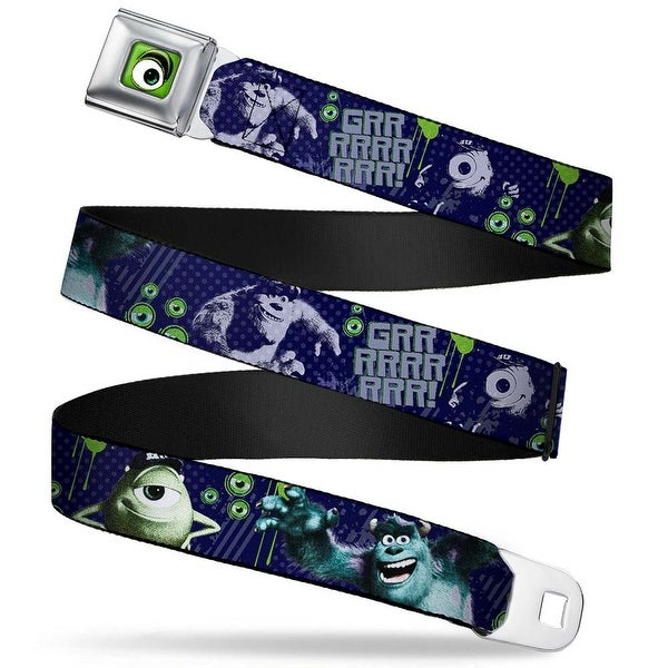 Monster Wide Eye Full Color Monsters Inc. Sully & Mike Poses Grrrrr! Seatbelt Belt