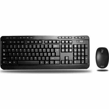 Adesso Wkb-1300Ub Easytouch 1300 2.4Ghz Wireless Desktop Keyboard & Mouse Combo