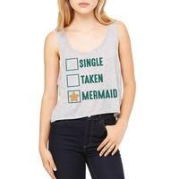 Single Taken Mermaid Checklist Graphic Women's Athletic Heather Flowy Boxy Tank
