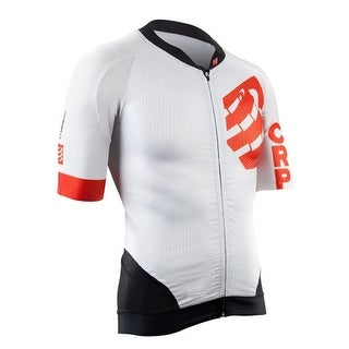 Compressport Men's On/Off Short Sleeve Cycling Jersey Maillot - TSON-SS - White