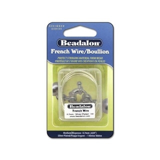 Beadalon French Wire Med .7mm 1M Silver Plated