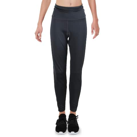Reebok Womens Athletic Leggings Tights Fitness - Gravel - L