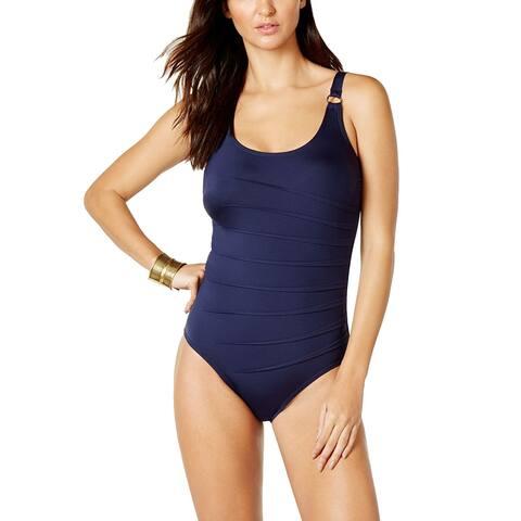 Calvin Klein Starburst One-Piece Swimsuit, Navy, 14