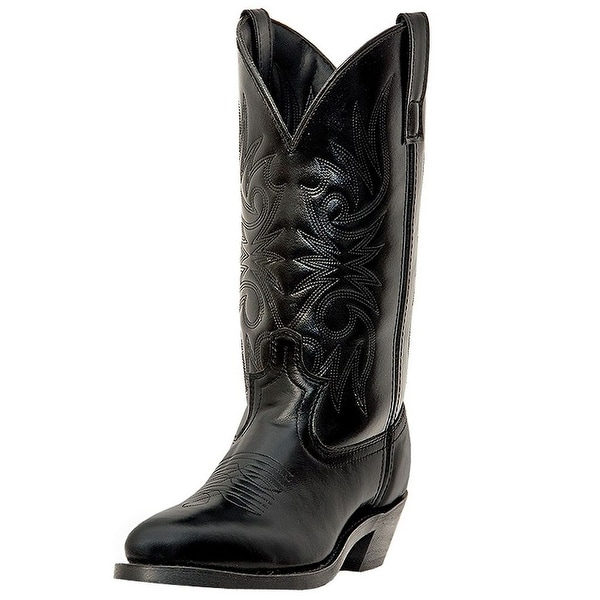 Laredo Western Boots Mens Paris Trucker Leather Lined Black