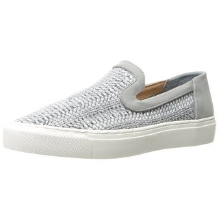 STEVEN by Steve Madden Womens Kenner Leather Low Top Slip On Fashion Sneakers