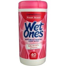 WET ONES Antibacterial Hand Wipes, Fresh Scent 40 Each
