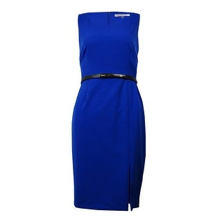Kasper Women's Belted Stretchy Crepe Dress
