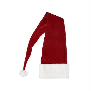 5' The Extended Santa Claus Christmas Hat - Adult Size - RED