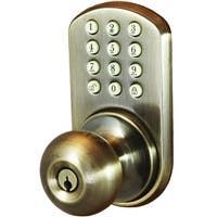Morning Industry Inc Touchpad Electronic Doorknob (antique Brass)