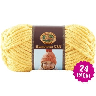 Lion Brand Hometown Usa Yarn 24/Pk-Pittsburgh Yellow