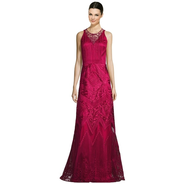 47f876b2cbf1 Shop David Meister Embroidered A-Line Evening Gown Dress - 14 - Free  Shipping Today - Overstock - 17934741
