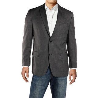 Michael Kors Mens Two-Button Blazer Wool Pattern - 40r