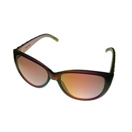 Esprit Womens Sunglass Brown Cateye Plastic, Brown Gradient Lens 19378 535