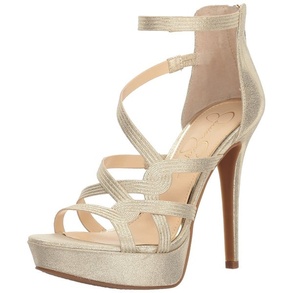Jessica Simpson Womens Bellanne Suede Open Toe Special Occasion Ankle Strap S...