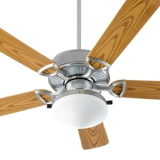 "Quorum International 143525-CFL Estate 5 Blade 52"" Sweep Indoor / Outdoor Ceiling Fan with Light Kit"
